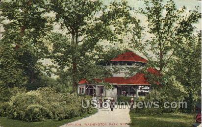 Pavilion In Washington Park - MIlwaukee, Wisconsin WI Postcard