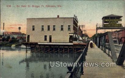 Main Street Bridge  - MIlwaukee, Wisconsin WI Postcard