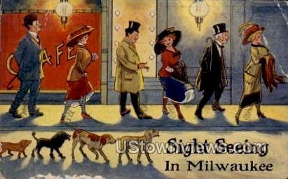 Sight Seeing - MIlwaukee, Wisconsin WI Postcard