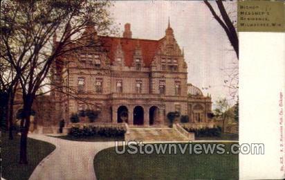 Bishop Messmer's Residence - MIlwaukee, Wisconsin WI Postcard