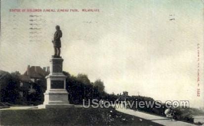 Statue Of Solomon Juneau - MIlwaukee, Wisconsin WI Postcard