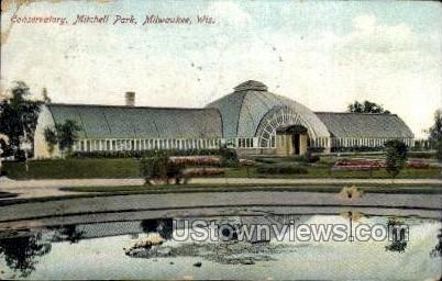 Conservatory in Mitchell Park - MIlwaukee, Wisconsin WI Postcard