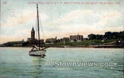 Juneau Park - MIlwaukee, Wisconsin WI Postcard