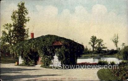 Boathouse In Mitchell Park - MIlwaukee, Wisconsin WI Postcard
