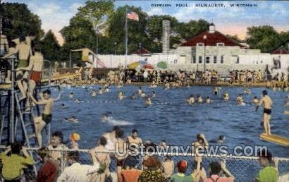 Gordon Pool - MIlwaukee, Wisconsin WI Postcard