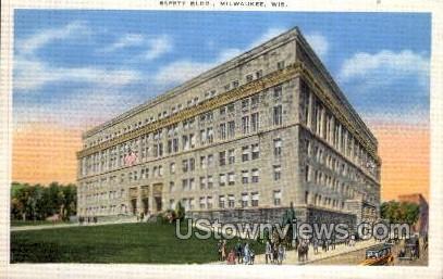 Safety Building - MIlwaukee, Wisconsin WI Postcard