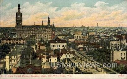 View From Court House - MIlwaukee, Wisconsin WI Postcard