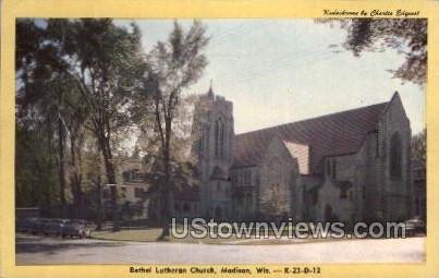 Bethel Lutheran Church - Madison, Wisconsin WI Postcard