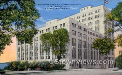 Wisconsin's New State Office Building - Madison Postcard