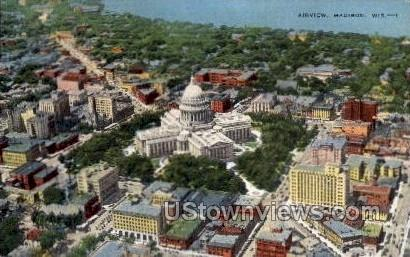 Airview  - Madison, Wisconsin WI Postcard