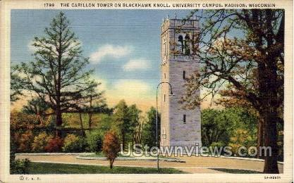 The Carillon Tower  - Madison, Wisconsin WI Postcard