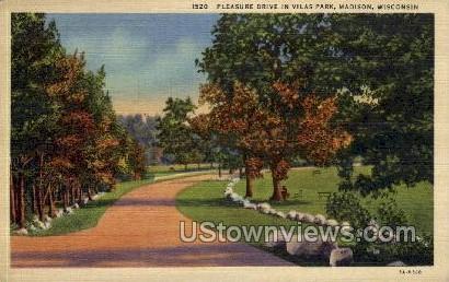 Pleasure Drive In Vilas Park - Madison, Wisconsin WI Postcard