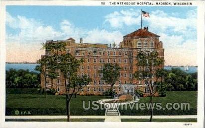 The Methodist Hospital  - Madison, Wisconsin WI Postcard