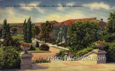 University Buildings  - Madison, Wisconsin WI Postcard