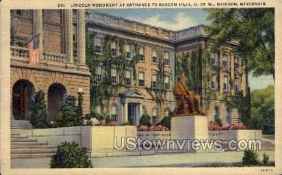 Lincoln Monument - Madison, Wisconsin WI Postcard