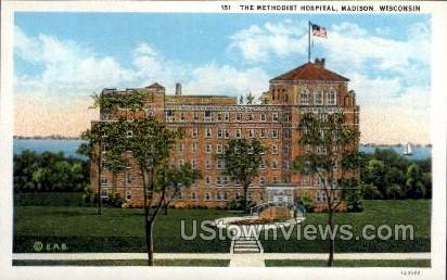 The Methodist Hospital  - Madison, Wisconsin WI Postcard