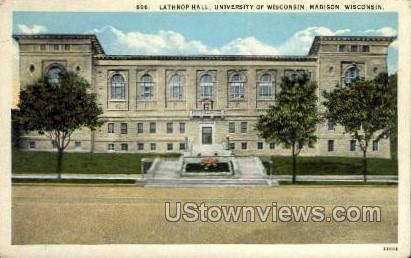 Lathrop Hall, University Of Wisconsin - Madison Postcard