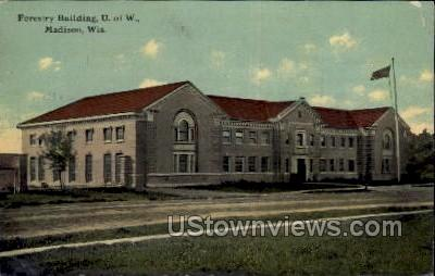 Forestry Building  - Madison, Wisconsin WI Postcard