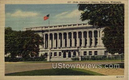 Historical Library - Madison, Wisconsin WI Postcard