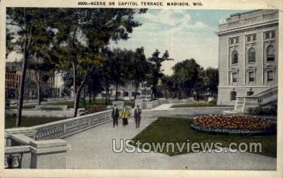 Capitol Terrace - Madison, Wisconsin WI Postcard
