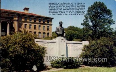 Monument of Govenor W. D. Hoard - Madison, Wisconsin WI Postcard