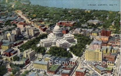 Air View - Madison, Wisconsin WI Postcard