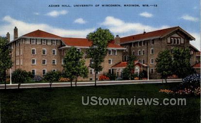 Adams Hall, University Of Wisconsin - Madison Postcard