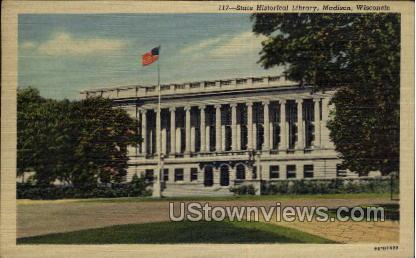 State Historical Library - Madison, Wisconsin WI Postcard