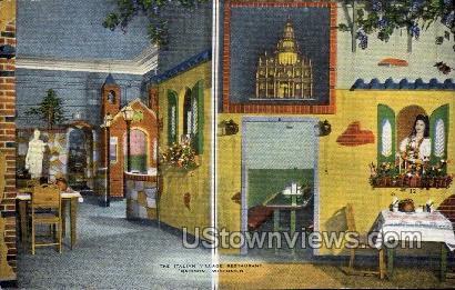 The  Italian Village Restaurant - Madison, Wisconsin WI Postcard