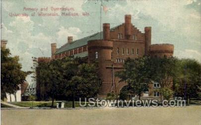 Armory And Gymnasium - Madison, Wisconsin WI Postcard
