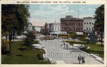 King Street  - Madison, Wisconsin WI Postcard