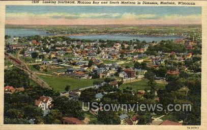 Monona Bay - Madison, Wisconsin WI Postcard