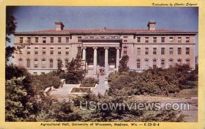Agricultural Hall, University Of Wisconsin - Madison Postcard