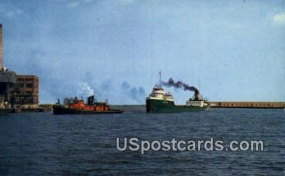 Milwaukee Harbor - Wisconsin WI Postcard