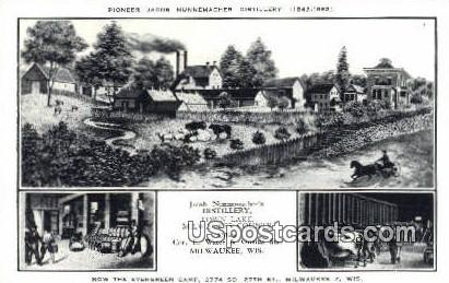 Pioneer Jacob Nunnemacher Distillery - MIlwaukee, Wisconsin WI Postcard