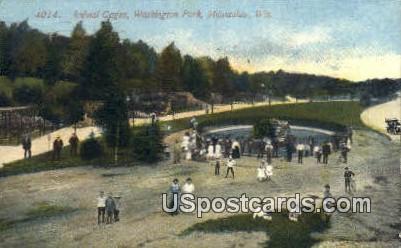 Animal Cages, Washington Park - MIlwaukee, Wisconsin WI Postcard