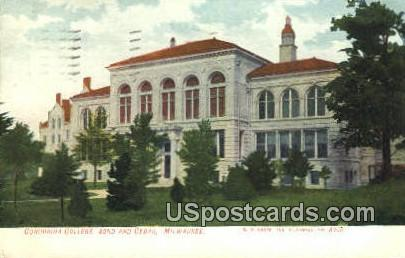 Concordia College - MIlwaukee, Wisconsin WI Postcard