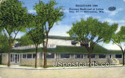 Boulevard Inn - MIlwaukee, Wisconsin WI Postcard