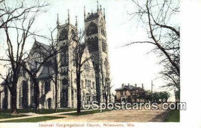 Imanuel Congregational Church - MIlwaukee, Wisconsin WI Postcard