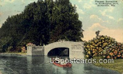 Pleasant Recreation, Washingotn Park - MIlwaukee, Wisconsin WI Postcard