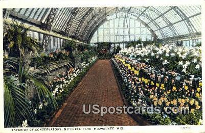 Conservatory, Mitchell Park - MIlwaukee, Wisconsin WI Postcard