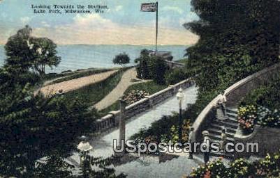 Stadium, Lake Park - MIlwaukee, Wisconsin WI Postcard