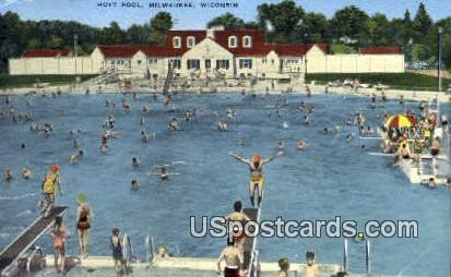 Hoyt Pool - MIlwaukee, Wisconsin WI Postcard