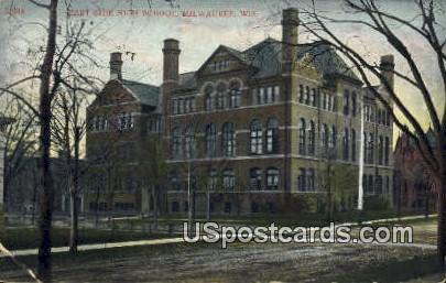 East Side High School - MIlwaukee, Wisconsin WI Postcard