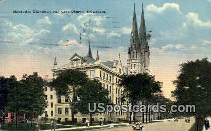 Marquette University, Gesu Church - MIlwaukee, Wisconsin WI Postcard