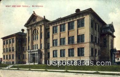 West Side High School - MIlwaukee, Wisconsin WI Postcard