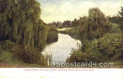 Lagoon, Washington Park - MIlwaukee, Wisconsin WI Postcard
