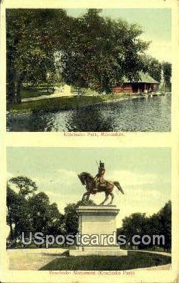 Kosciusko Park - MIlwaukee, Wisconsin WI Postcard