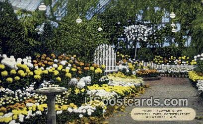 Mum Flowerr Show, Mitchell Park Conservatory - MIlwaukee, Wisconsin WI Postcard