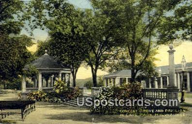 Concert Grove & Pavilion, Lake Park - MIlwaukee, Wisconsin WI Postcard